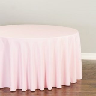 Baby Pink Round Tablecloth