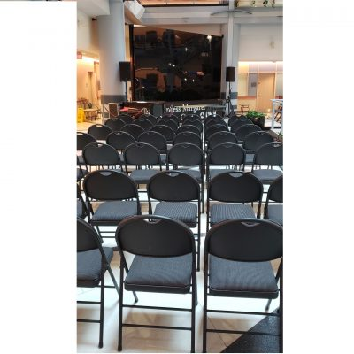 Charcoal Padded Folding Chairs