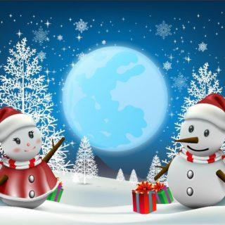 Snowman Vinyl Backdrop Rental