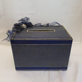 Navy Blue Envelop Card Box