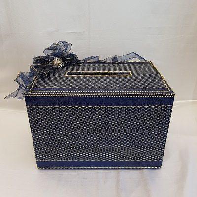 Navy Blue Envelop Card Box