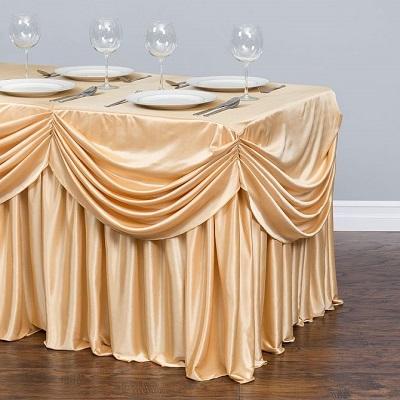 Chiffon Pleated Tablecloth Skirt