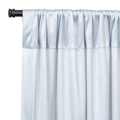 Silver Chiffon Backdrop Draping