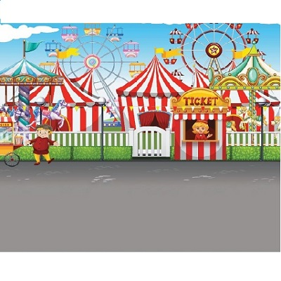 Carnival Vinyl Backdrop Rental