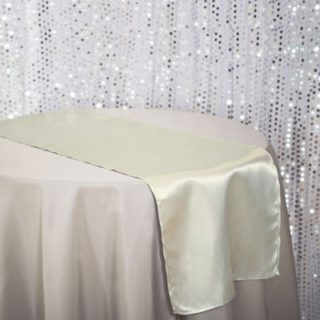 Ivory Satin Table Runner