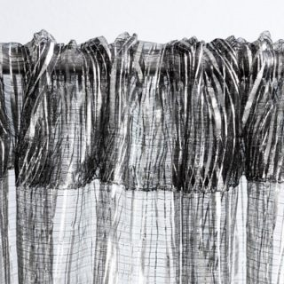 Silver Metallic Ribbon Drape