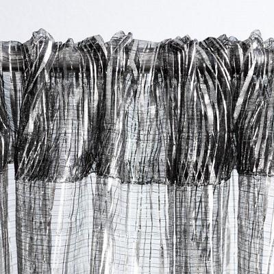 Silver Metallic Ribbon Drape