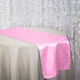 Pink Satin Table Runner