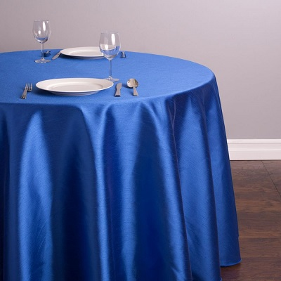 Royal Blue Shantung Silk Tablecloth