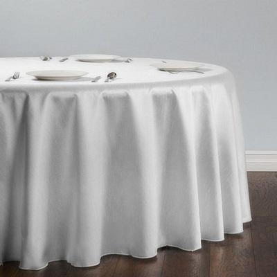 White Shantung Silk Tablecloth
