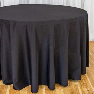 132 inch Black Tablecloth
