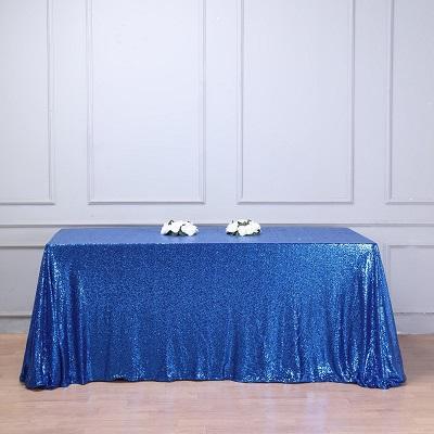 Blue Sequin Tablecloth