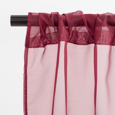 Burgundy Sheer Backdrop Drape Rental