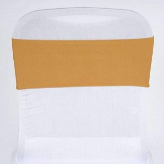 Gold Spandex Chair Sash