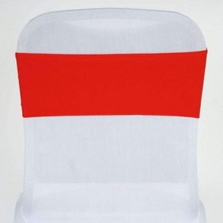 Red Spandex Chair Sash