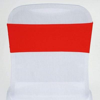 Red Spandex Chair Sash