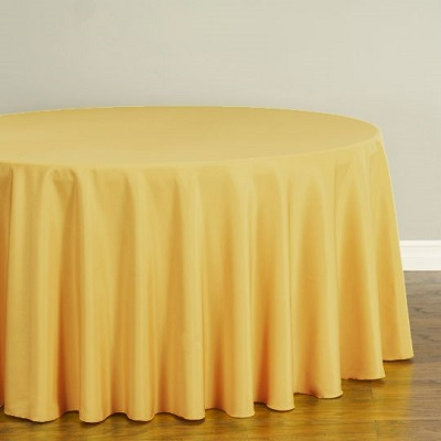 Gold Polyester Tablecloth Rental