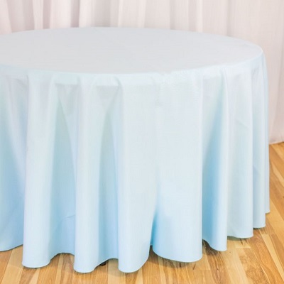 Baby Blue Round Tablecloth