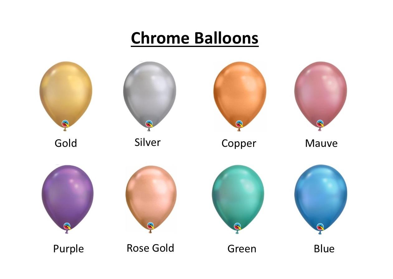 Chrome Balloon Colors