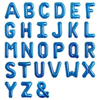 Large Blue Foil Letters