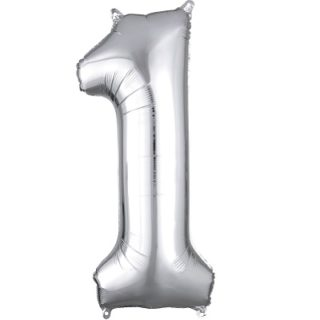Number 1 Silver Balloon
