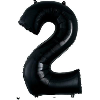 Number 2 Black Balloon