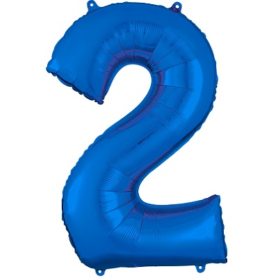 Number 2 Blue Balloon