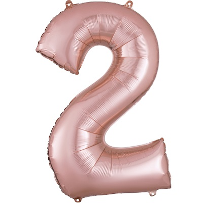 Number 2 Rose Gold Balloon