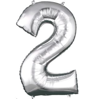Number 2 Silver Balloon