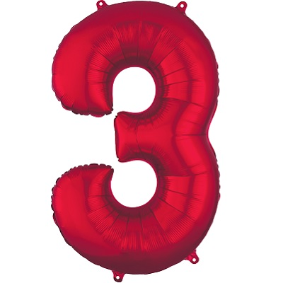 Number 3 Red Balloon
