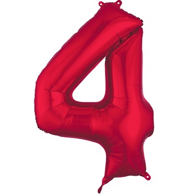 Number 4 Red Balloon