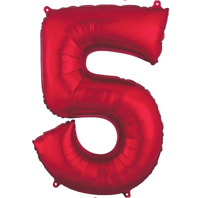 Number 5 Red Balloon