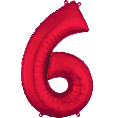 Number 6 Red Balloon