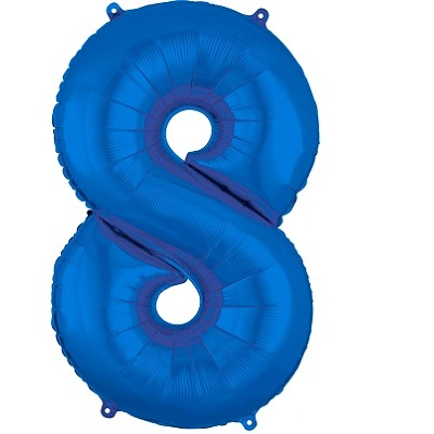 Number 8 Blue Balloon