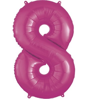 Number 8 Pink Balloon