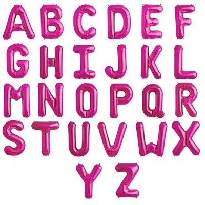 Pink Large Letter Balloons