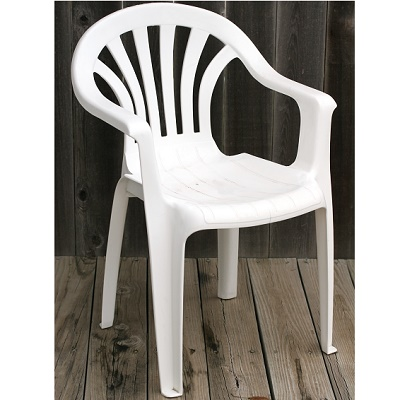 White Bistro Chair with Arms