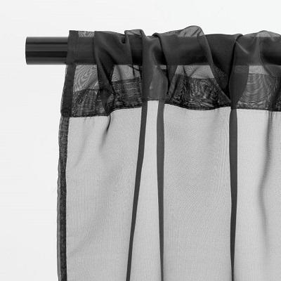 Black Sheer Drape Rental