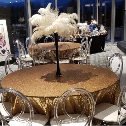 Sequin Tablecloth & Centerpiece