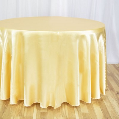 Gold Round Satin Tablecloth