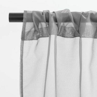 Silver Sheer Drape Rental